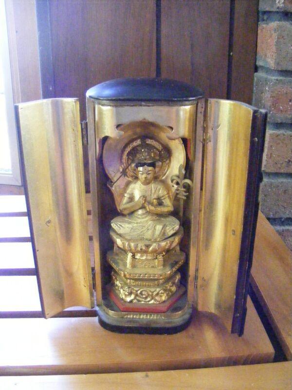 Antique Japanese Travelling Bhuddist Shrine