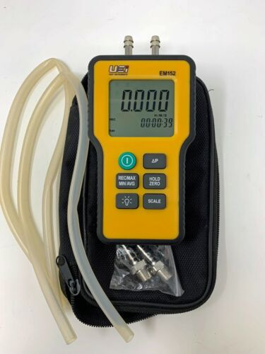 UEI TEST INSTRUMENTS EM152 Dual Differential Input Manometer, 9V Not included