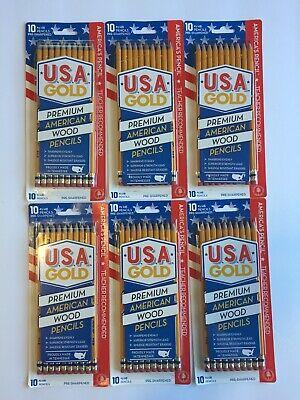 Usa Gold Premium American 2 Cedar Pencils 6 X 10 Packs 60 Americas Pencils