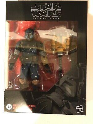 "Star Wars The Black Series 6"" Heavy Infantry Mandalorian Action Figure Hasbro"