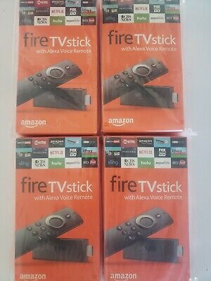 Lot of 4X NEW Amazon Fire TV Sticks with Alexa Voice Remote (2016)