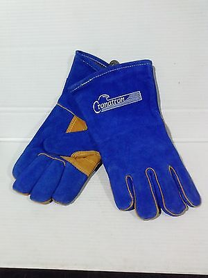 Conatron Blue Leather Welding Gloves Size Small. 1 Pair Ls057