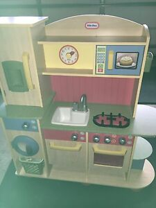 Wooden Play Kitchen with Accessories