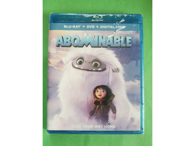 NEW - ABOMINABLE (Blu-ray + DVD + Digital 2019) Free ShipN! Kids / Family Film