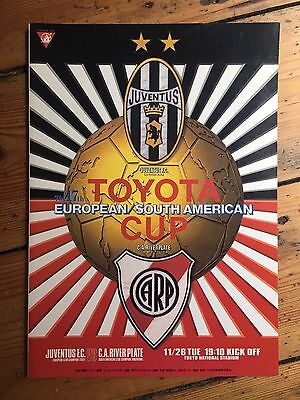 1996/1997 Toyota World Club Cup Final JUVENTUS v RIVER PLATE *Exc Cond Programme