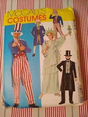 McCall's Costumes Pattern 8701 Statue of Liberty, Uncle Sam, Abe Lincoln, George - Statue Of Liberty Halloween Costume Pattern
