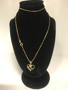 9ct Gold Necklace With Heart Pendant Darwin CBD Darwin City Preview