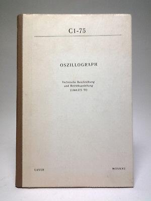 C1-75 Russia oscilloscope scope oszillograph service manual Handbuch Oszilloskop gebraucht kaufen  Schechen
