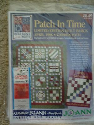 Jo Ann Quilt Fabric   Crafts Patch In Time Quilt  12 New Unopened Blocks