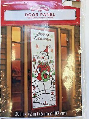 Xmas winter door cover snowman 30