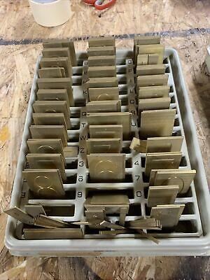 New Hermes Brass Engraving Master Font Set 35-022 Old No 275