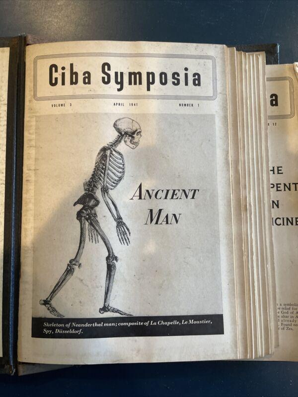 12 CIBA Clinical Symposia Volume Three 1941 Medical Illustrated Hardbound