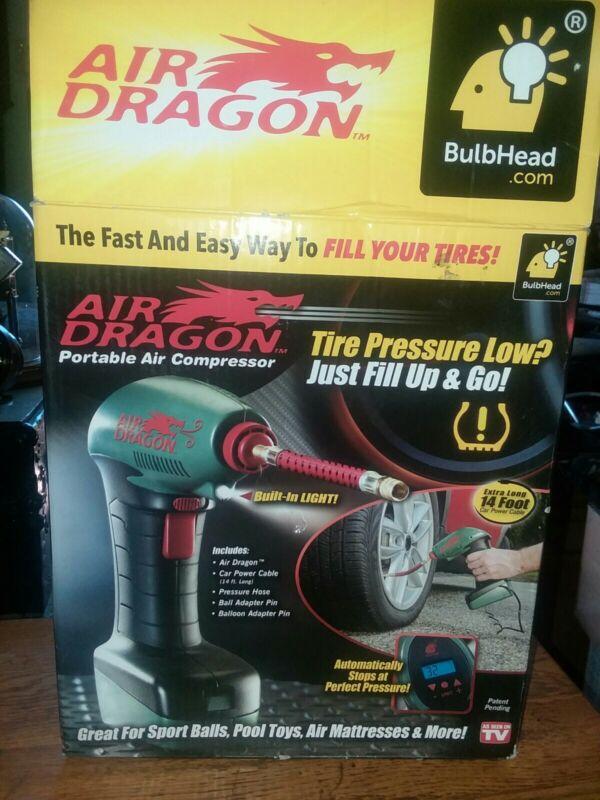 Bulbhead Air Dragon Portable Air Compressor Pump Tire Inflator As Seen On TV