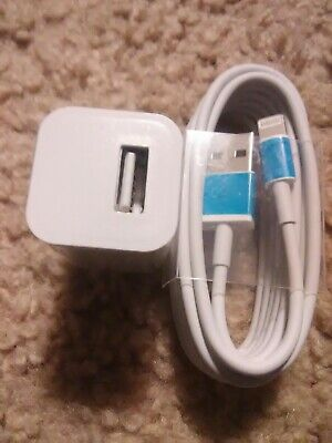 Apple iphone 5 6 7 & 8 plus Lightning Charger/ 6 foot long Cable and Plug