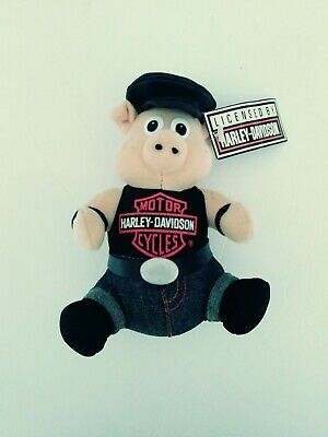 - Harley Davidson Motorcycle Hog Piggy Plush Stuffed Toy New With Tags