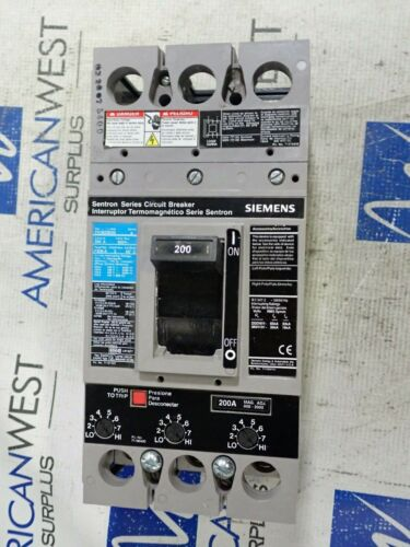 New Takeout FXD63B200 200 amp 600V 3P FXD6 Siemens Sentron Circuit Breaker