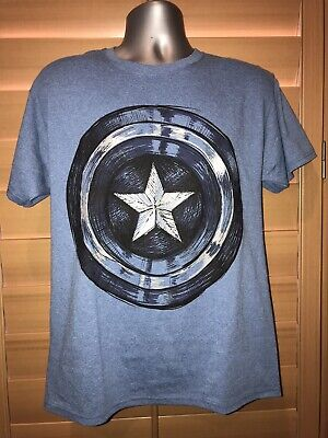 MARVEL CAPTAIN AMERICA SHIELD GRAPHIC ADULT 2X LARGE TEE - NWT](Captain America Adult Shield)