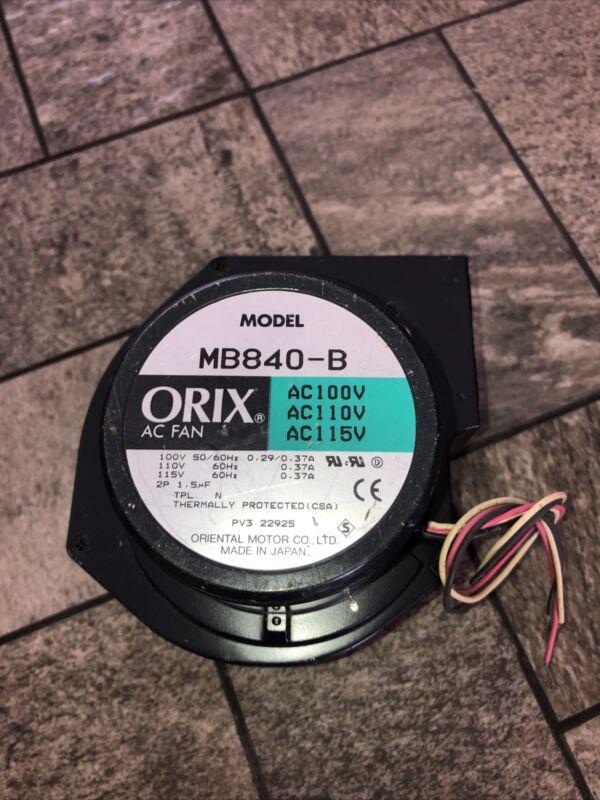 Oriental Motors ORIX Fan MB840-B AC Centrifugal Blowers