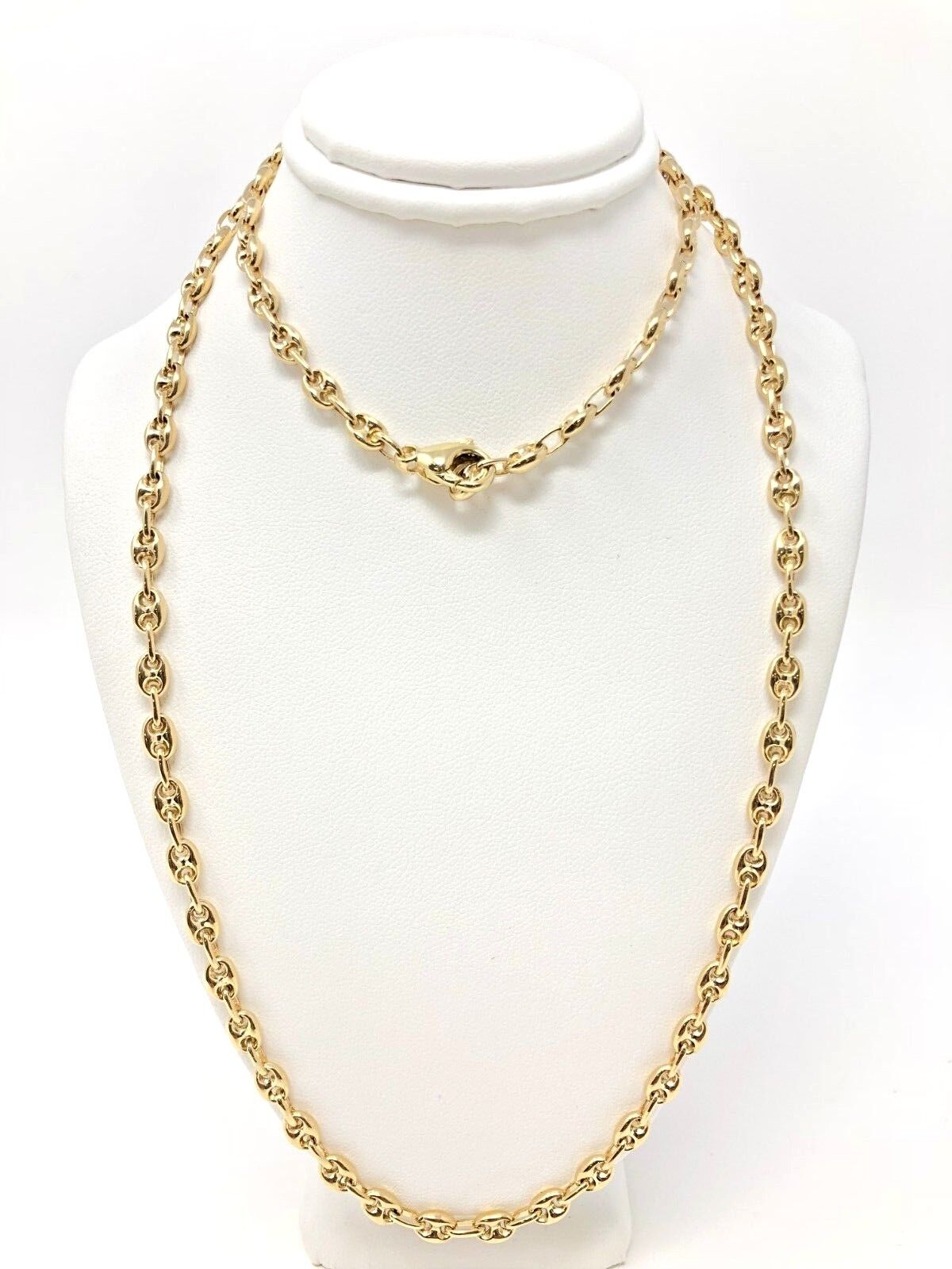 d2c760e15 14K Yellow Gold Solid Gucci Mariner Link Chain Necklace 26