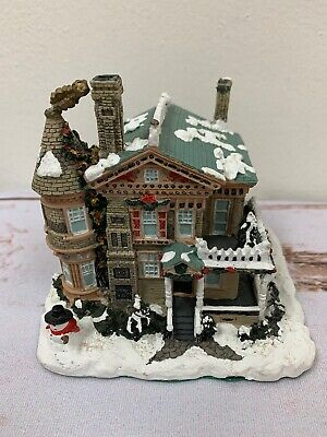 1995 Santa's Best Ceramic Christmas House Collectible