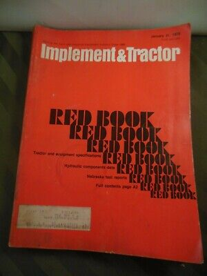 1979 Farm Tractor And Implement Red Book