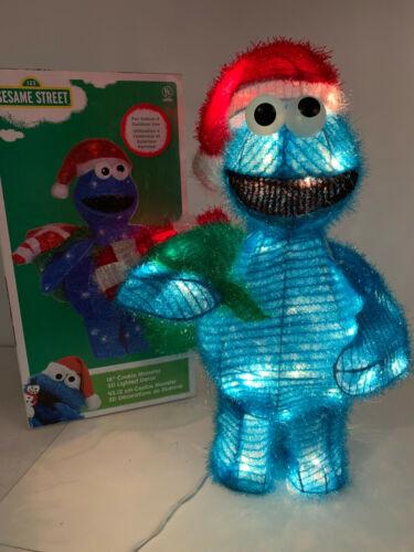 "Sesame Street Cookie Monster 18""  Light Up Christmas Decoration Kurt Adler"