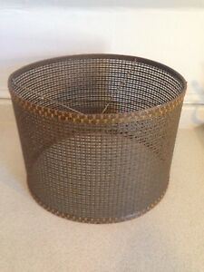 Vintage Mid Century Modern Weaved Cane Lamp Shade