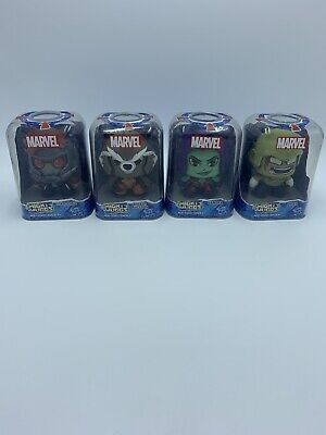 marvel mighty muggs Set Of 4. Guardians Of The Galaxy. 2017 Hasbro