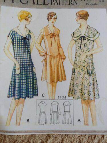 Antique Sewing Pattern- Ladies Dress # 5155