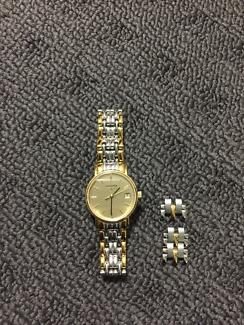 Silver and Gold two tone Longines watch