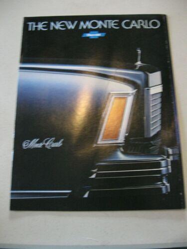1978 Chevrolet Monte Carlo Car Dealer Sales Brochure Catalog