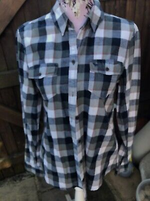 Ladies Abercrombie & Fitch Check Shirt - Blue/ White Size Large 14