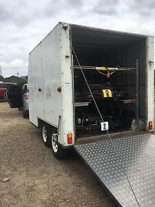 enclosed trailer fits three go karts or bikes Newcastle Newcastle Area Preview