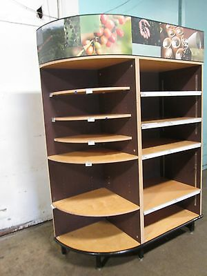 Heavy Duty Commercial Large Open Dry Bakery Display Merchandising Casecabinet