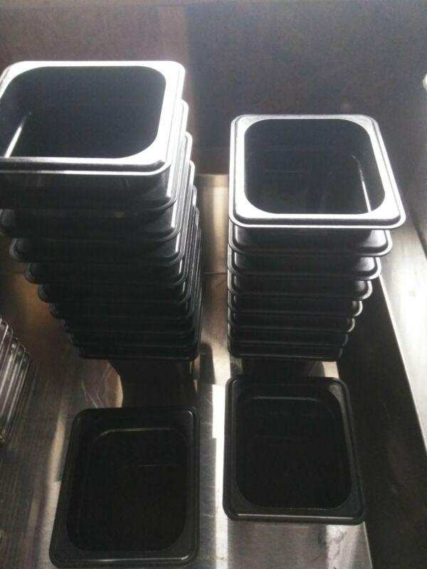 20 Cambro - 1/6 Black Cambro Camwear Food Pans