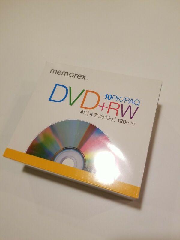 Memorex DVD + RW 10 Pack Factory Sealed