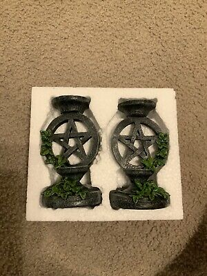 Candlesticks/Candle Holder - Witchcraft/Wiccan/Pagan - AGED PENTAGRAM