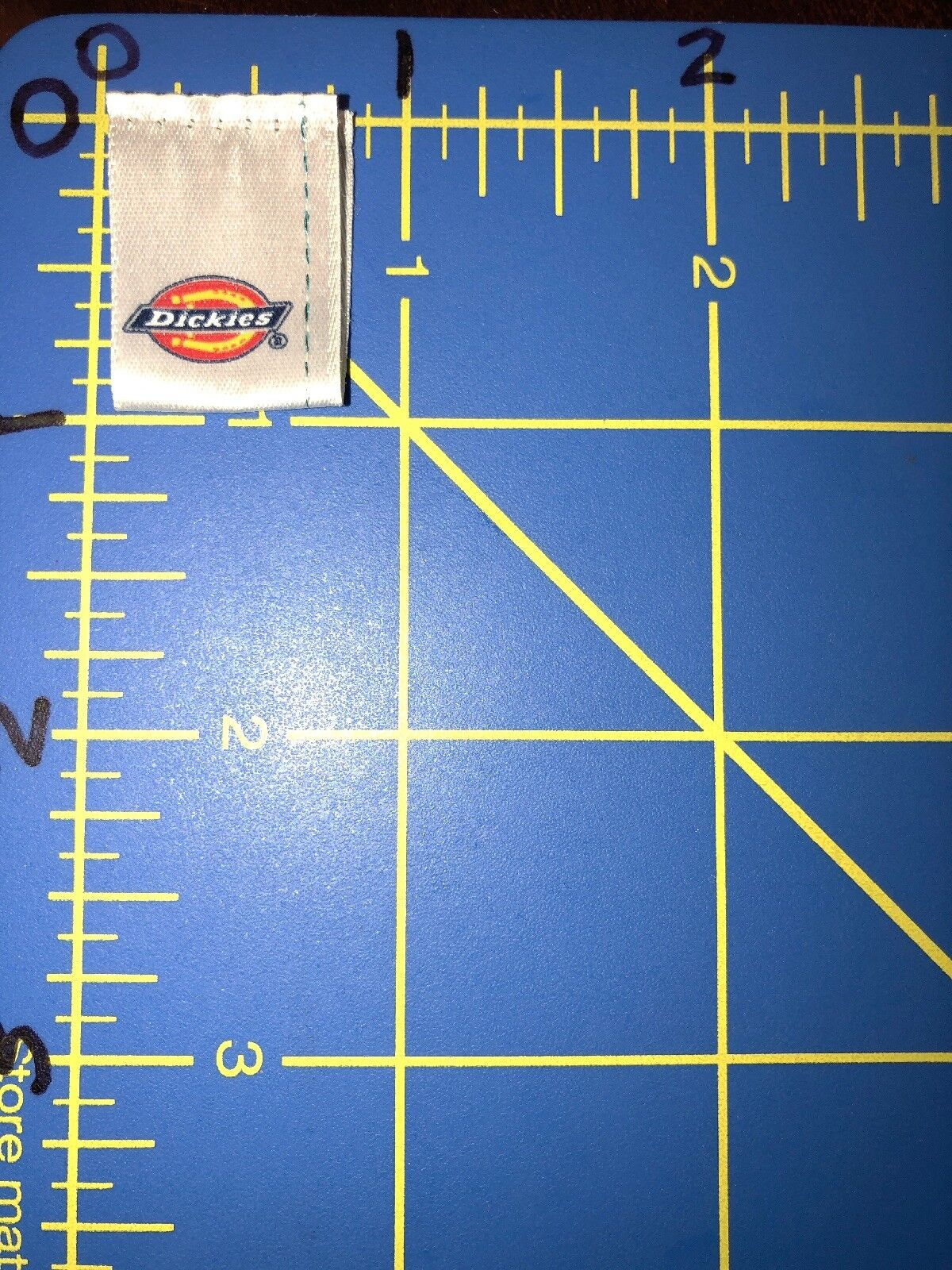 Dickies Horseshoe Logo Patch Tag Work Clothing Industrial Construction Red