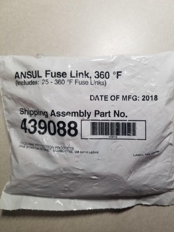 Ansul Fuse Link 360 Red PN 439088 Pkg Of 25