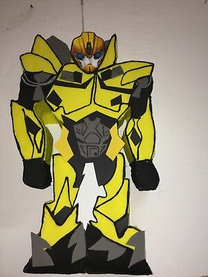bumblebee pinata, bumblebee birthday party, bumblebee transformers party (Transformer Pinata)