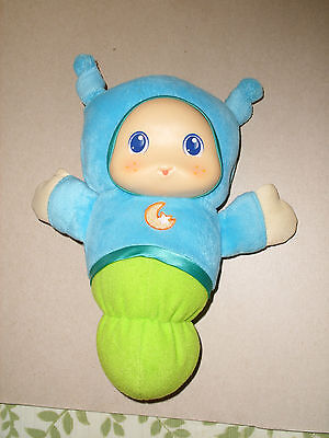 PLAYSKOOL HASBRO PLUSH LIGHT UP MUSIC LULLABY BABY GLO BUG WORM TOY 2011 9 IN - Light Up Bug Toy