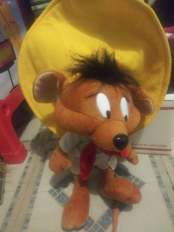 Six Flags Looney Tunes Plush Speedy Gonzales Mexican Mouse in sombrero