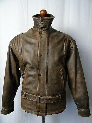 Men's Vintage 1980'S Leather Luftwaffe Biker Jacket 42R (M)