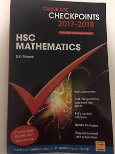 *****2018 Cambridge Checkpoints HSC MATHEMATICS Workbook Belrose Warringah Area Preview