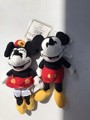 1930s Handbags and Purses Fashion The Disney Store 1930s Mickey Mouse and Minnie Mouse Mini Bean Bag Plush $11.00 AT vintagedancer.com