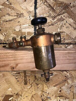 Antique Brass Swift Lubricator Hit Miss Steam Tractor Engine Nos