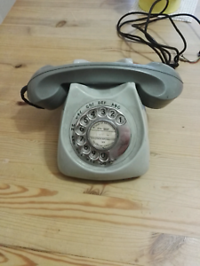 Vintage rare old grey dial phone