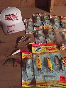 Large selection of Canadian Wiggler fishing lures