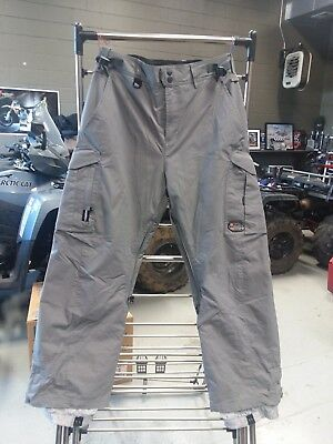 QUICKSILVER MEN'S SNOW PANTS SNOWBOARDING ENDURANCE GROUP GREY SIZE SMALL S