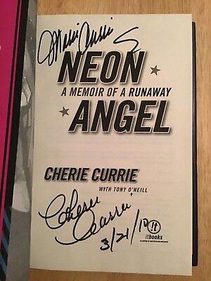 SIGNED x2 Cherie Currie & Marie - NEON ANGEL A Memoir of A Runaway HC 1st +